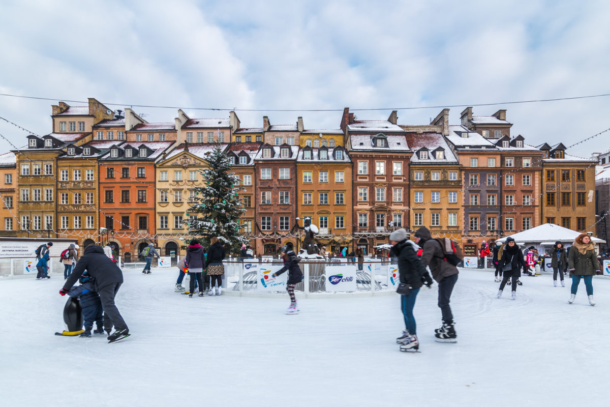 Ice rink in the Old Town Square